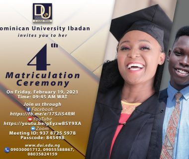 Dominican University Matriculation